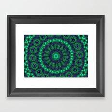 Lovely Healing Mandalas in Brilliant Colors: Black, Royal Blue, Dark Green, and Russian Green Framed Art Print