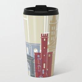 Aosta skyline poster Travel Mug