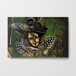Bauta Mask, Carnival, Venice, Italy Metal Print