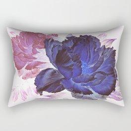 big blue floral Rectangular Pillow