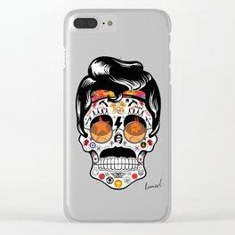 SKULL ROCK / Famous Musical Groups - Symbols - Digital Illustration Art - Pop Art - Wall Decor Clear iPhone Case