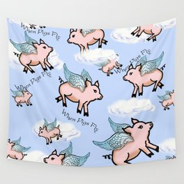 When Pigs Fly 2 Wall Tapestry