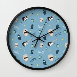 Twelve Doctor Who pattern Wall Clock
