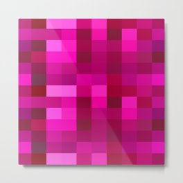Pink Mosaic Metal Print