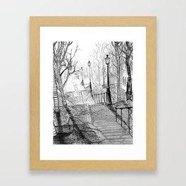 Rue Foyatier des Lignes Framed Art Print