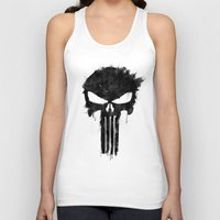 punisher Tank Tops featuring Punisher Black by d.bjorn
