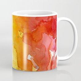 Rainbow Watercolor Texture Abstract Pattern Coffee Mug