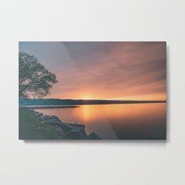 Seneca Lake Sunset Metal Print