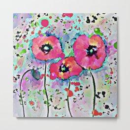 Bright Poppy Flowers Metal Print