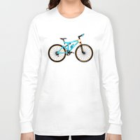 brompton Long Sleeve T-shirts featuring Mountain Bike by Wyatt Design