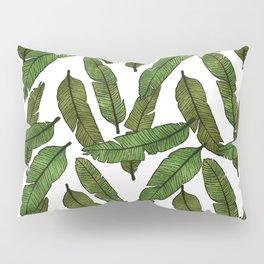 Banana Leaf - White Pillow Sham