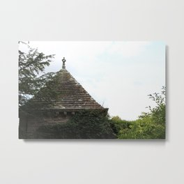 Italian Garden at Glamis Castle Metal Print