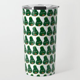Whimsical Avocado Art Travel Mug