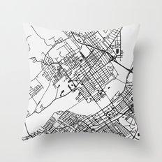 Wilkes-Barre Pennsylvania Map Throw Pillow
