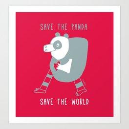 cuore di panda Art Print