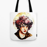 grantaire Tote Bags featuring Grantaire watercolour by chazstity