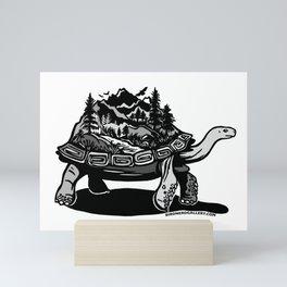 World Tortoise Mini Art Print