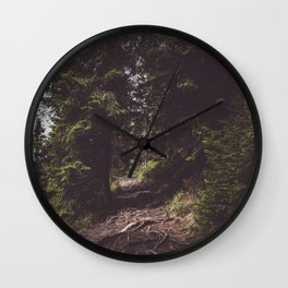 Back on the trail Wall Clock