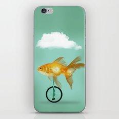 unicyle goldfish III iPhone & iPod Skin