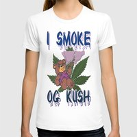 cannabis T-shirts featuring TIMOTHY THE CANNABIS BEAR  by Timmy Ghee CBP/BMC Images  copy written
