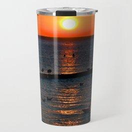 Summer Sunset on the Baltic Sea Travel Mug