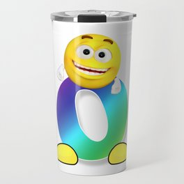 Letter O Alphabet Smiley Monogram Face Emoji Shirt for Men Women Kids Travel Mug