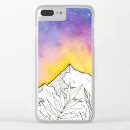 Mountain Through the Jungle Clear iPhone Case