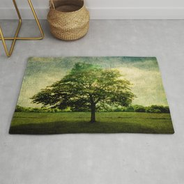 The Textured Tree  Rug