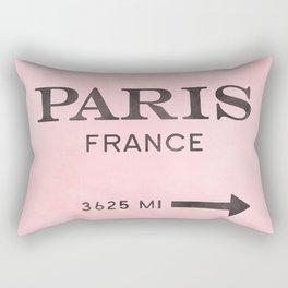 pink and black watercolor paris france Rectangular Pillow