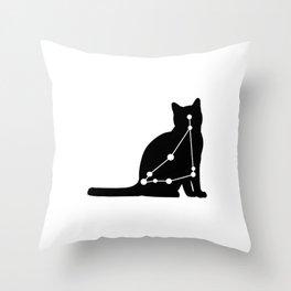 capricorn cat Throw Pillow