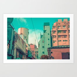 Manga City Art Print