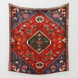 Red & Blue Vintage Bereber Moroccan Bohemian Artwork. Wall Tapestry