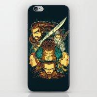 hobbit iPhone & iPod Skins featuring The Hobbit by anggatantama