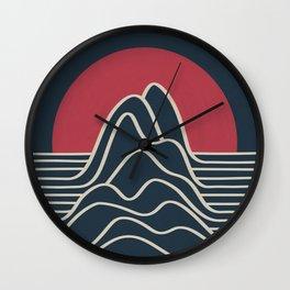 Line Landscape II Wall Clock