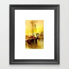 BOSTON 2 - GOLD Framed Art Print