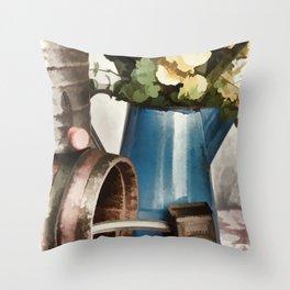 Rustic Kitchen Throw Pillow