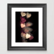 Valentine in pink Framed Art Print