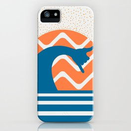 Hang Loose Wave // Sun Surfer Shaka Beach Retro Graphic Design Horizontal Daze Waves iPhone Case