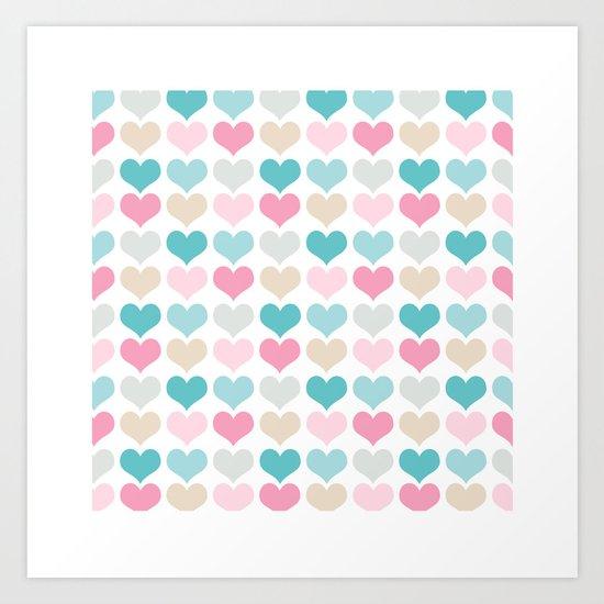 sweet hearts Art Print
