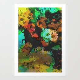 Flower and Dragonfly Art Print
