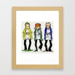 3 tired boys Framed Art Print