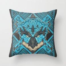 Hunting Club: Azure Rathalos Throw Pillow