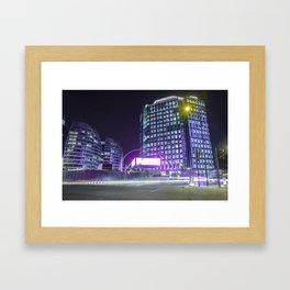 Old Street At Night Framed Art Print