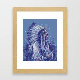 native american portrait-sitting bull Framed Art Print
