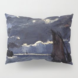 Claude Monet - Seascape Shipping by Night Pillow Sham