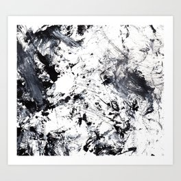 Black and White Abstract 4 Art Print
