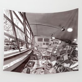 Denver Coffeehouse Wall Tapestry
