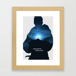 King Arthur cover art Framed Art Print