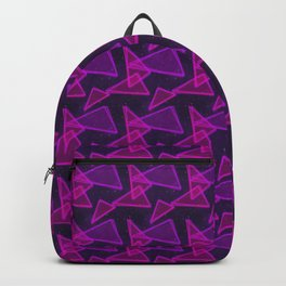 1980s neon triangles Backpack