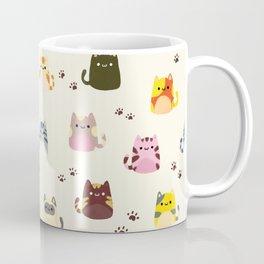 Cat Doodle Pattern Coffee Mug